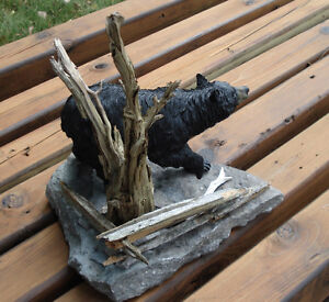 3-D Hand Crafted Black Bear Table Sculpture Kingston Kingston Area image 5