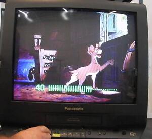 "PANASONIC PV-C2063 20"" CRT TV/ VCR & FM."