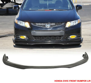 2012 - 13 Honda Civic 2D Coupe CS Style Front Bumper Lip Urethan