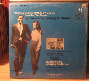 1968 OST Vinyl album w/ Sidney Poitier - Guess Who`s Coming to.. Kitchener / Waterloo Kitchener Area image 1