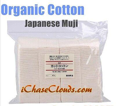 Japanese Grown 100% Organic UnBleached Cotton Vape Square Wick - 20 Pads