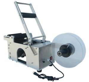 Stainless Steel Round Bottle Labeling Machine #160829
