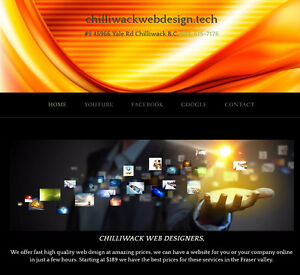Professional Websites $189, and your up and running in hours