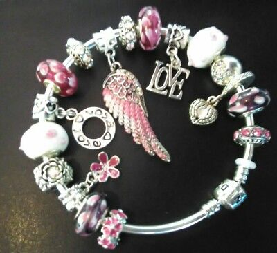 Angel Wings European Charm Bracelet, Authentic Pandora Avl,🌟🌟🌟
