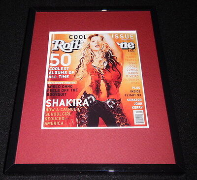 Shakira Framed April 11 2002 Rolling Stone Cover Display