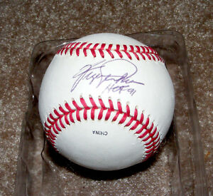 Major league baseball signed by two famous players!