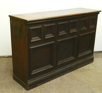 Attractive Original 19thC Victorian Freestanding Mahogany Pine Shop Bar Counter