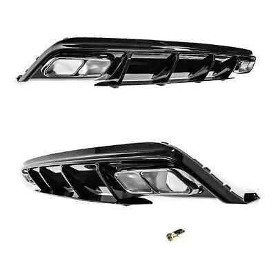 Für Mercedes Grill A-Klasse W176 A45 AMG Look Heckschürze Stoßstange Diffusor