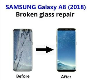 Samsung Galaxy A8 2018 cracked screen display LCD repair FAST **