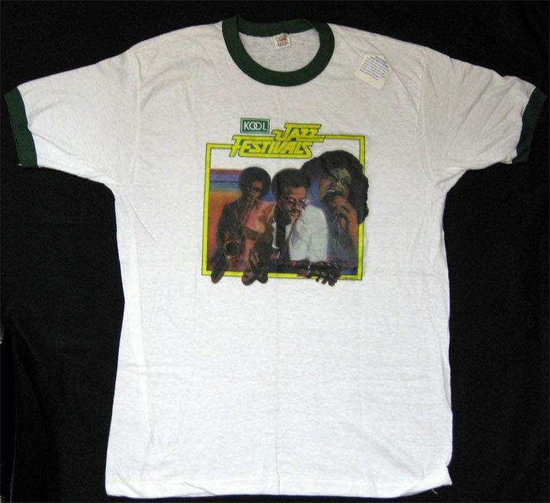 Kool Jazz Festival **RARE** 1980 VTG L Tour Ringer Shirt BB King Rick James Chic