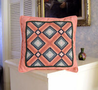 NEEDLEPOINT (Florentine Stitch) Decorative PILLOW - Hand Crafted