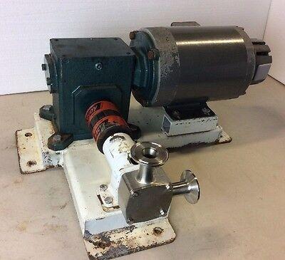 Jabsco Sanitary Flexible Impeller Ss Pump 12hp 230460 W Grove Gear Tmq220-2
