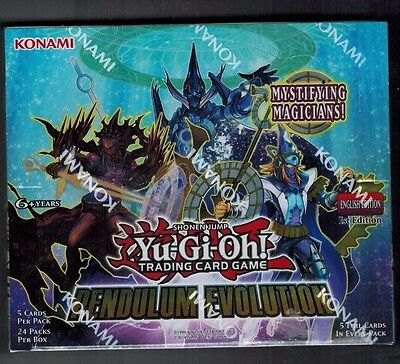 YU Gi OH PENDULUM EVOLUTION BOOSTER BOX 1ST EDITION FACTORY SEALED