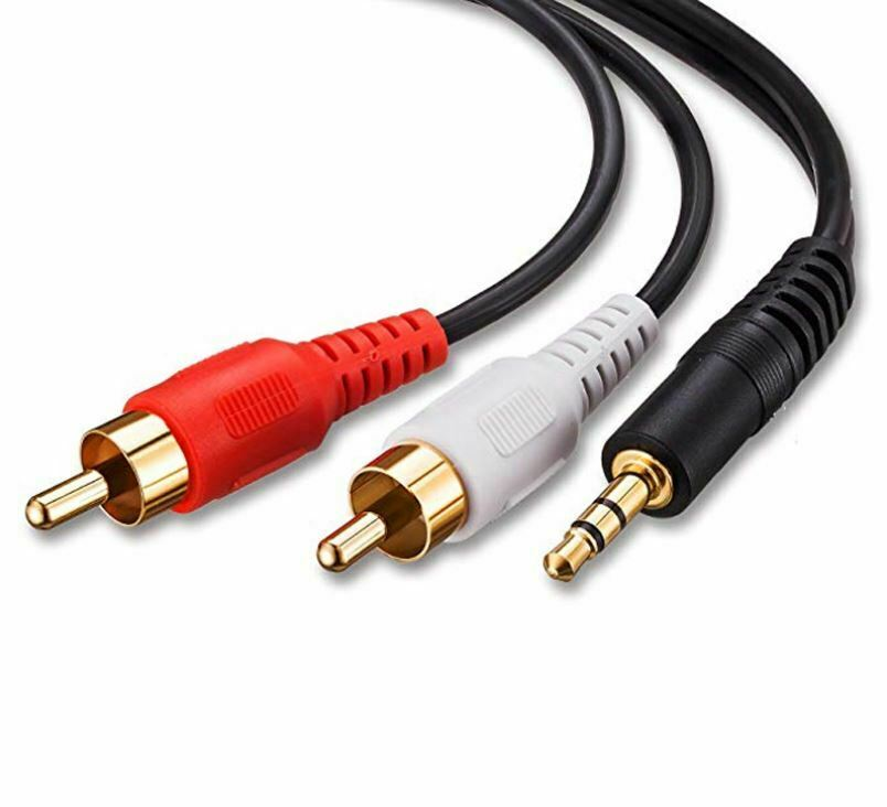 Klinke Cinch AUX 1m Audio Kabel 3,5mm Klinkenstecker auf 2 Chinch RCA Stecker