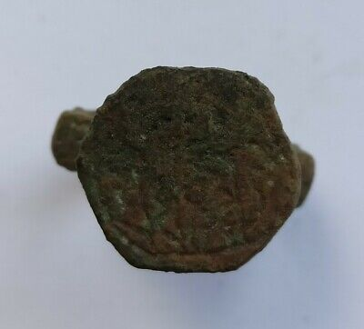 ANCIENT EARLY MEDIEVAL EUROPEAN BRONZE RING 900-1000 AD