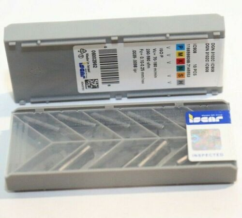 DGN 3102C IC908 ISCAR ** 10 INSERTS ** FACTORY PACK **