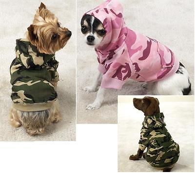 Camo Hoodie Dog Sweatshirt All Sizes Hooded Fleece Sweater Hoody Clothes