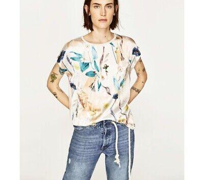Zara Printed Blouse Size S
