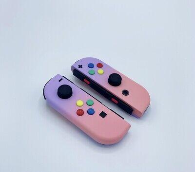 New Nintendo Switch Custom Joycons Purple to Pink Fade Joy Con Custom Buttons!
