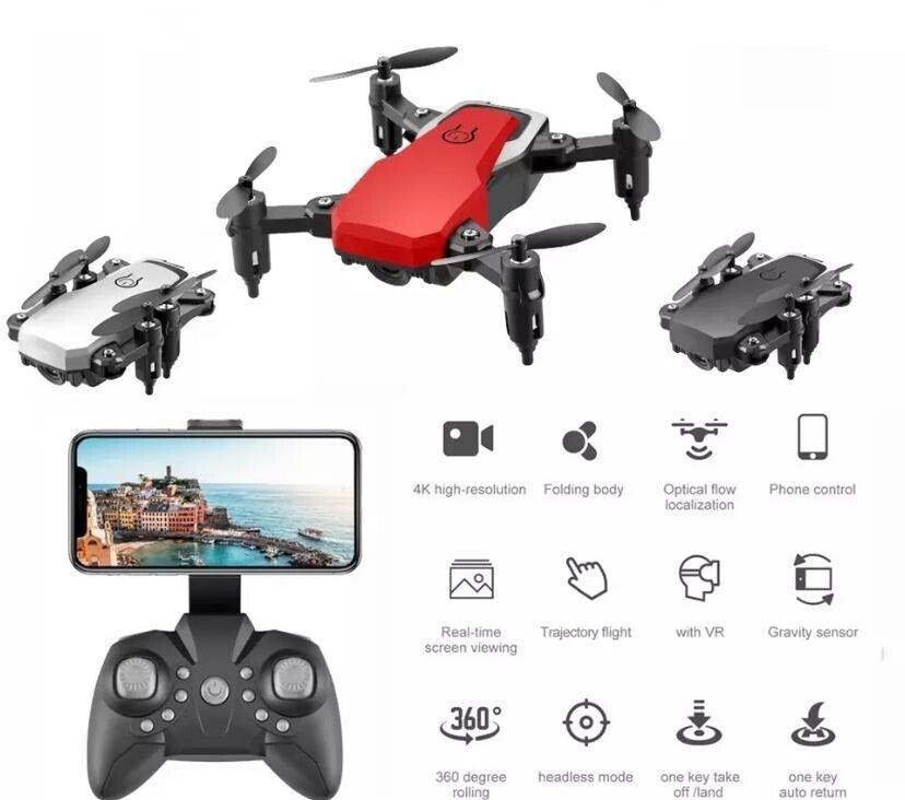 Mini Drone con Fotocamera 1080P WiFi Pieghevole Quadricottero RC Telecomando