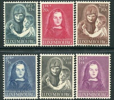 LUXEMBOURG-1950 War Orphans Fund Set of 6 Values Sg 533-538 UNMOUNTED MINT