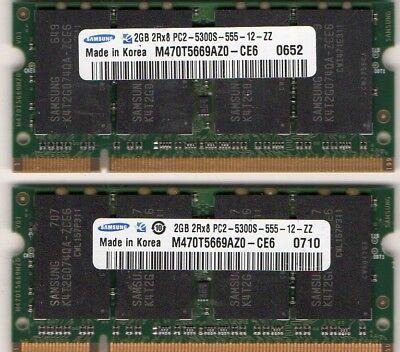Memory Upgrades Notebook Ram - 4GB 2x 2GB Kit Fujitsu LifeBook T2010 T4210 T4215 T4220 V1010 V1020 V1030 Memory