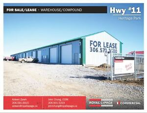 Hwy #11 Heritage Park - Warehouse Space Minutes North of Regina!