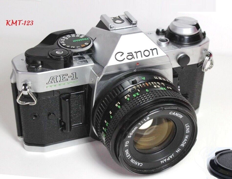 Купить Canon - Canon AE-1 Program 35mm Film Manual Camera w/ 50mm F1.8 Lens Excellent Condition