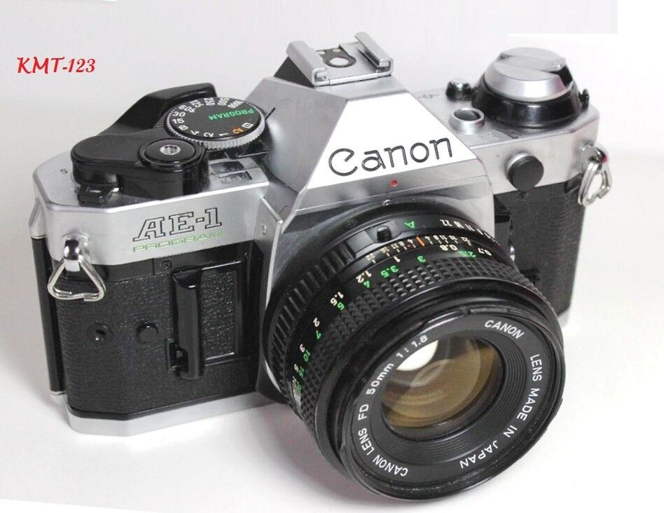 -   10 - Canon AE-1 Program 35mm Film Manual Camera w/ 50mm F1.8 Lens Excellent Condition