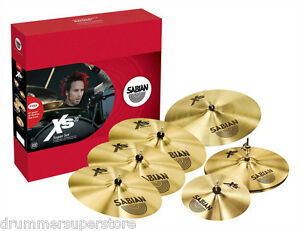 Sabian Xs20 Cymbal Pack Super Set with Free 10