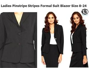 LADIES-XL-PLUS-SIZE-8-28-BLACK-SMART-BLAZER-TAILORED-SUIT-JACKET-TOP-WORK-OFFICE