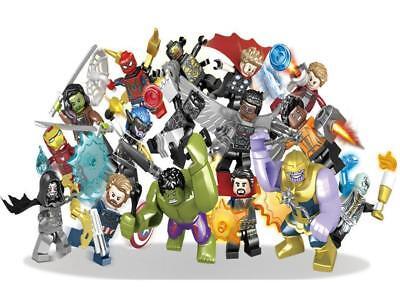 Lot/16pcs Marvel Super Heroes Avengers 3 Infinity War Action Figure Thanos  LEGO
