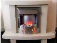 Nice ELECTRIC FIRE MARBLE EFFECT LIKE NEW FREE DELIVERY LOCAL