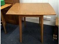 Vintage retro formica drop leaf table