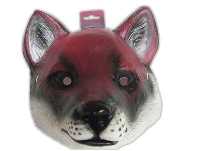 Red Fox Plastic Half Mask Halloween Costume Accessory Prop Wild Animal Farm pvc