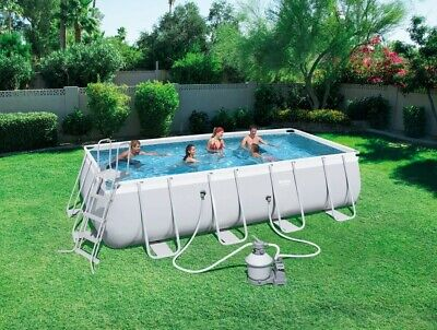 Bestway Power Steel Rectangular Pool Set 5.49 m x 2.74 m x...
