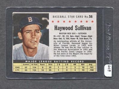 1961 Post #56 Haywood Sullivan (Red Sox) (SC9)  Vg-Ex  ( Flat Rate (Haywood Sc)
