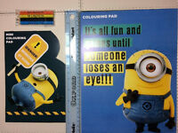 Despicable Me Minion Children Kids Fun Art Colouring Pad Play Pack Game