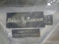 Ralph Lauren men's shirt, all NEW, 100% cotton, light blue