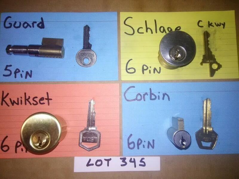 4 PCS. CHALLENGE LOCK CYLINDER SET; PICKERS, LOCKSPORT, LOT# 345