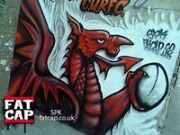 Top International Street Art - Graffiti Artist - Aerosol Spray Can Murals - CARDIFF