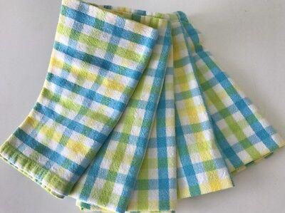 Cloth Napkins Gingham Summer Check Yellow Picnic Lot of 10 Gingham Checks, Serviette