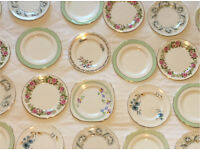 30 x Vintage Mismatched Side Plates Shabby Chic Tea Party Wedding Pink Green Blue Florals
