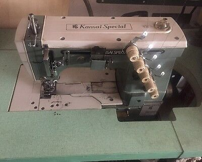 Kansai Special W-8003d 1-5 Needle Cover Stitch Industrial Sewing Machine