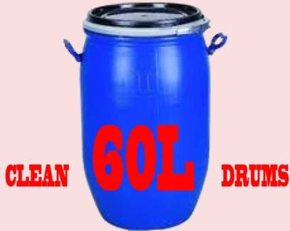 Drum 60 litre - Blue Plastic with Lid North Toowoomba Toowoomba City Preview