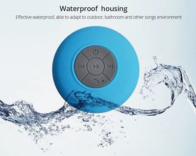 Seamless Sound Shower Wireless Portable Waterproof Bluetooth Speaker with Mic