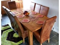 8 Real leather Tan chairs in excellent condition £350 each new