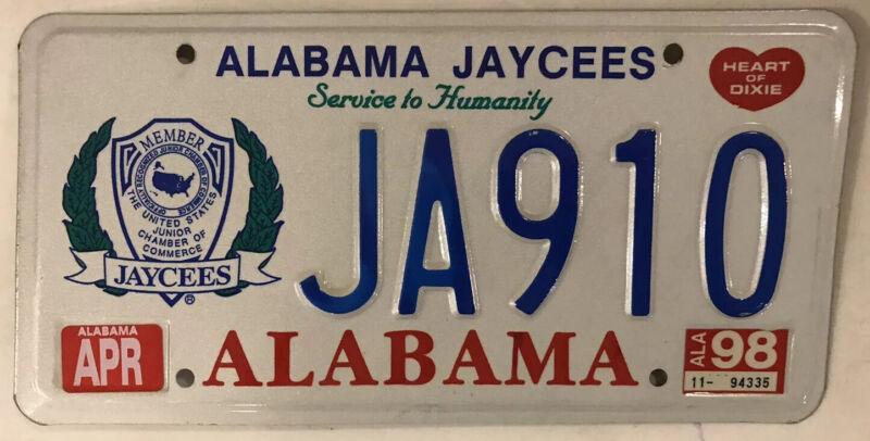 JAYCEES JCI USA SERVICE HUMANITY license plate United States Junior Chamber JCs