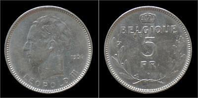 Leopold III 5 frank 1936 FR- pos B