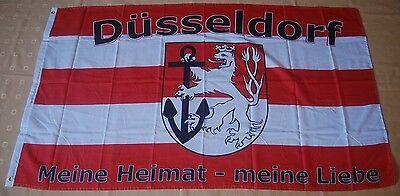 Düsseldorf Meine Heimat meine Liebe Fußball Fan Flagge Fahne 150 x 90 cm